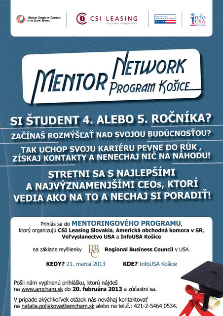2aee19c08 Mentor Network Program in Košice - AMCHAM, The American Chamber of ...